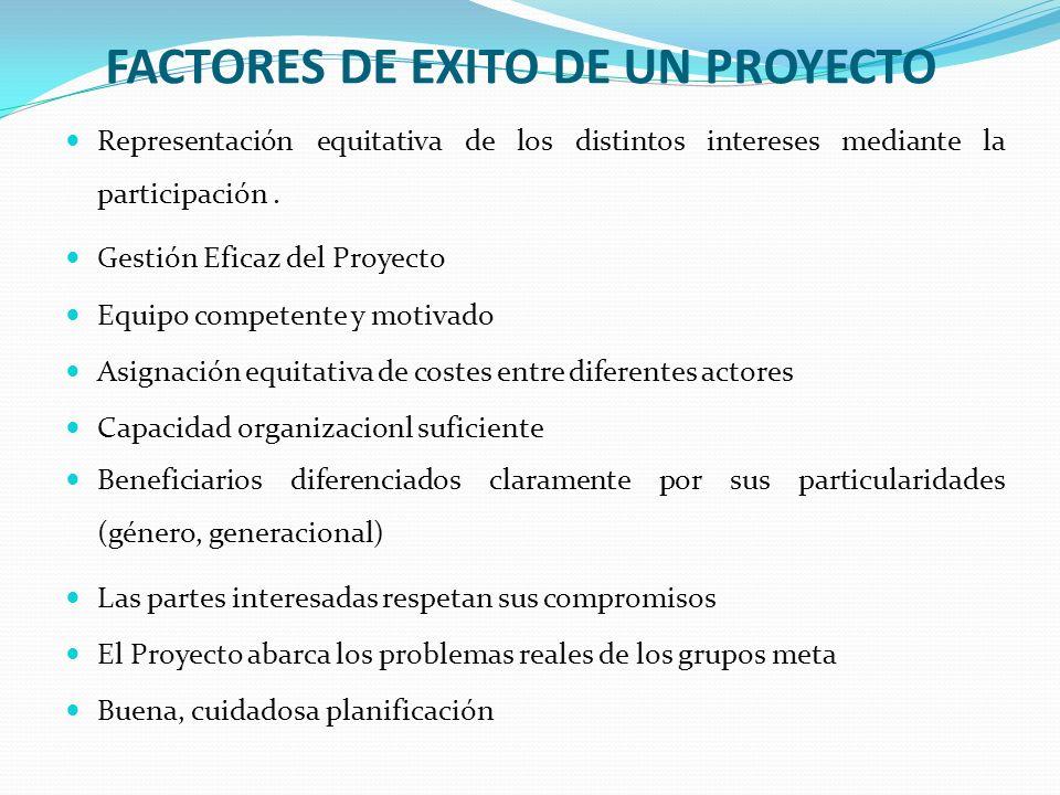 FACTORES DE EXITO DE UN PROYECTO