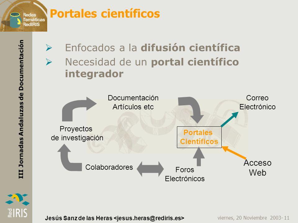 Portales científicos Enfocados a la difusión científica