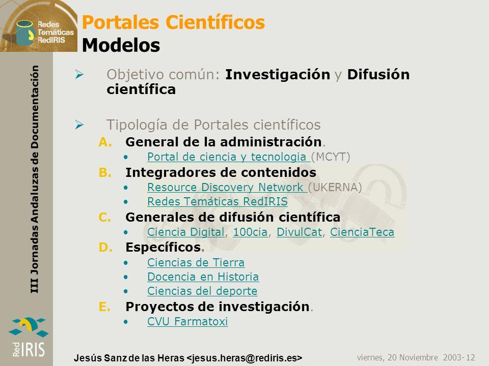 Portales Científicos Modelos