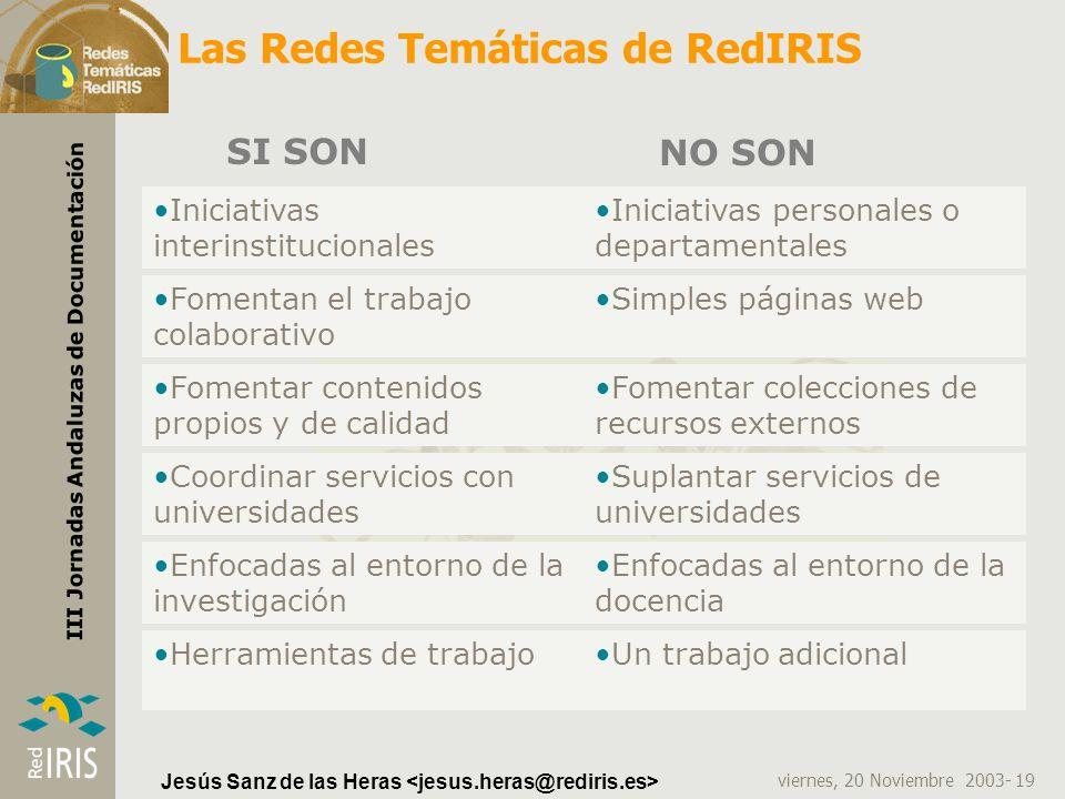 Las Redes Temáticas de RedIRIS