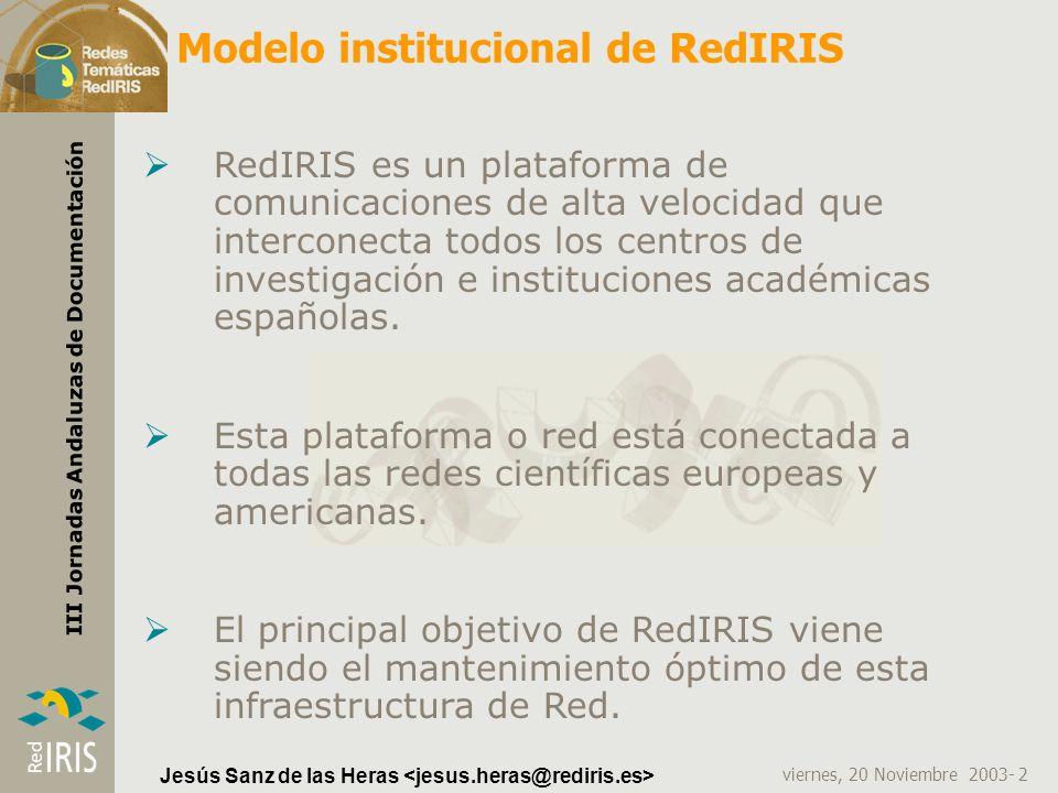 Modelo institucional de RedIRIS
