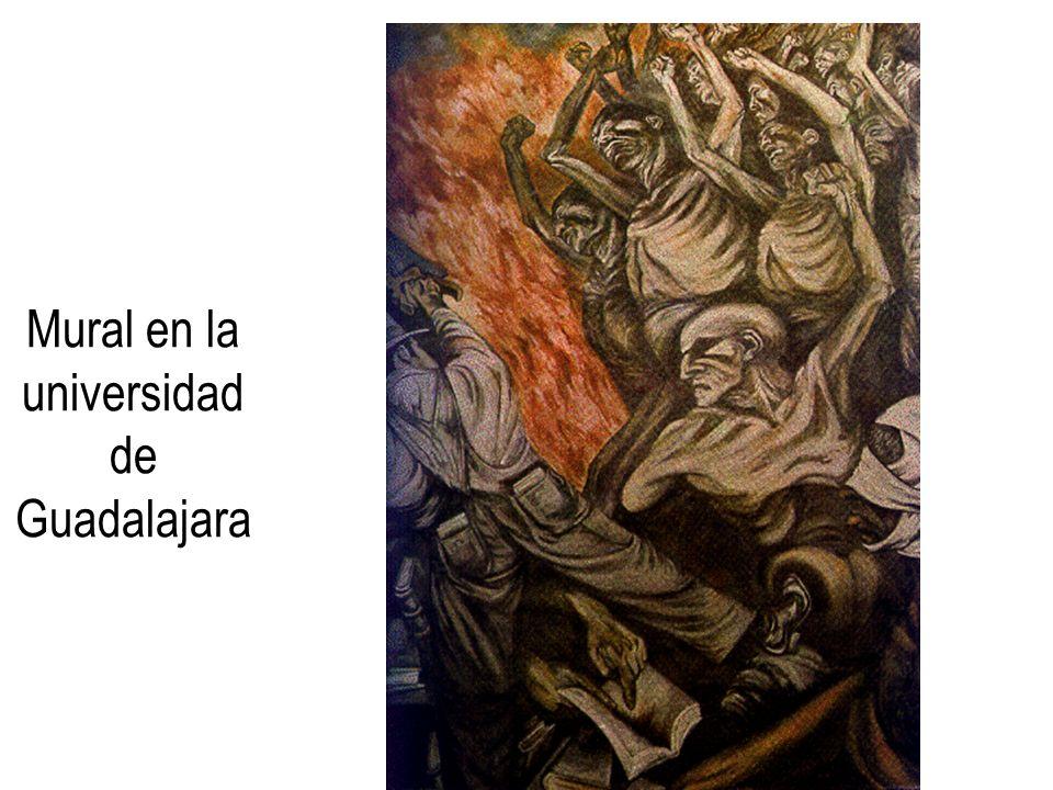 Mural en la universidad de Guadalajara