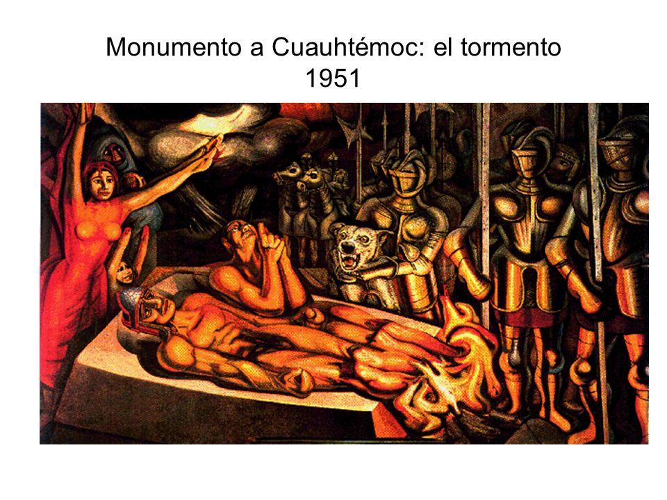 Monumento a Cuauhtémoc: el tormento 1951