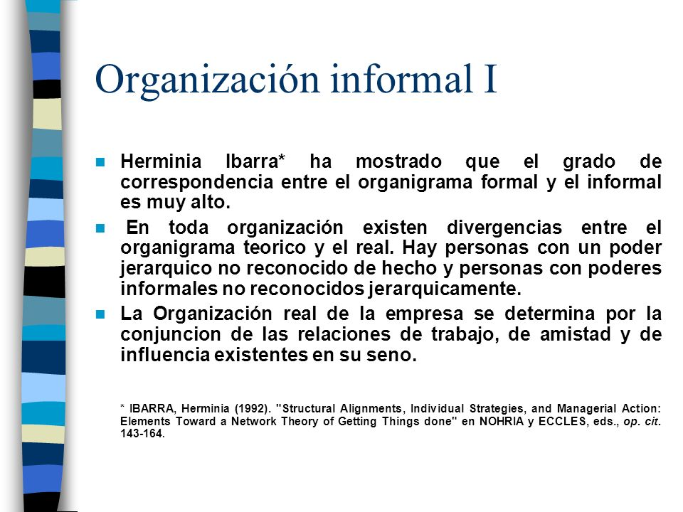Organización informal I