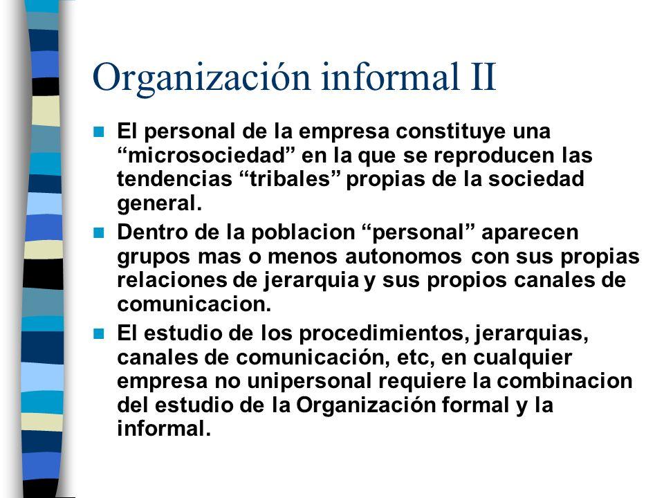 Organización informal II