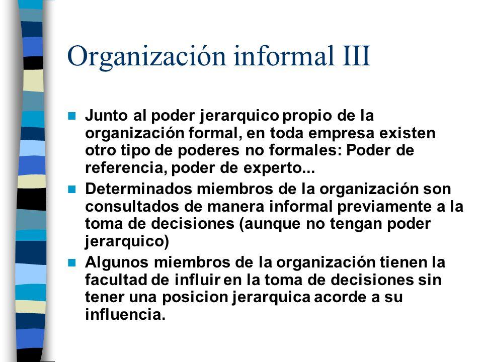 Organización informal III