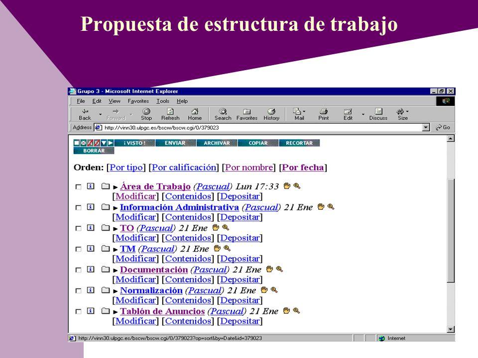 Propuesta de estructura de trabajo