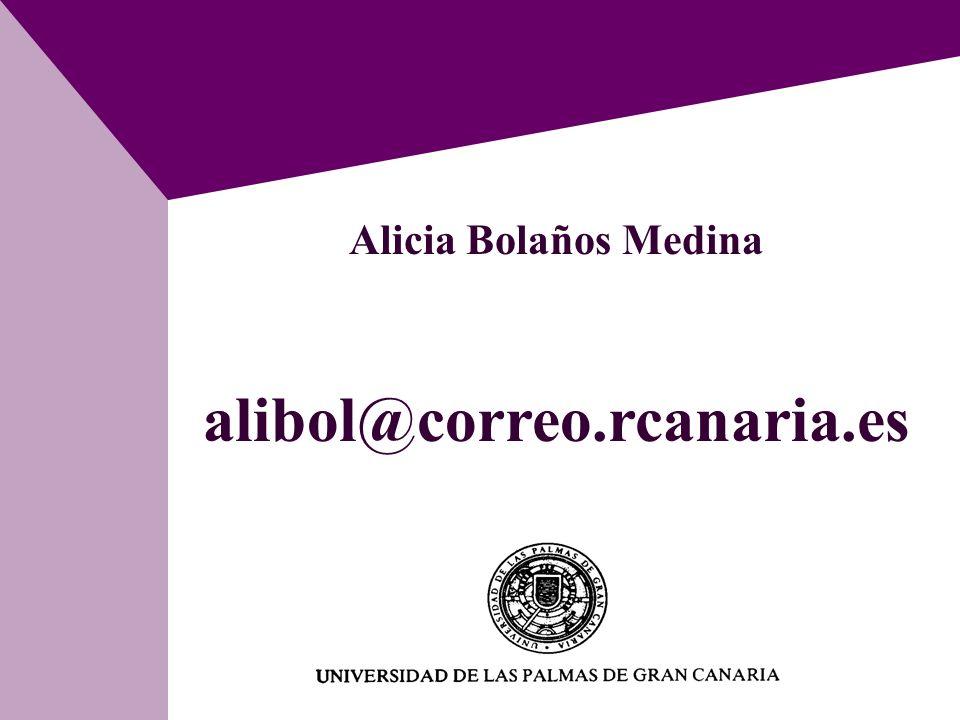 Alicia Bolaños Medina alibol@correo.rcanaria.es