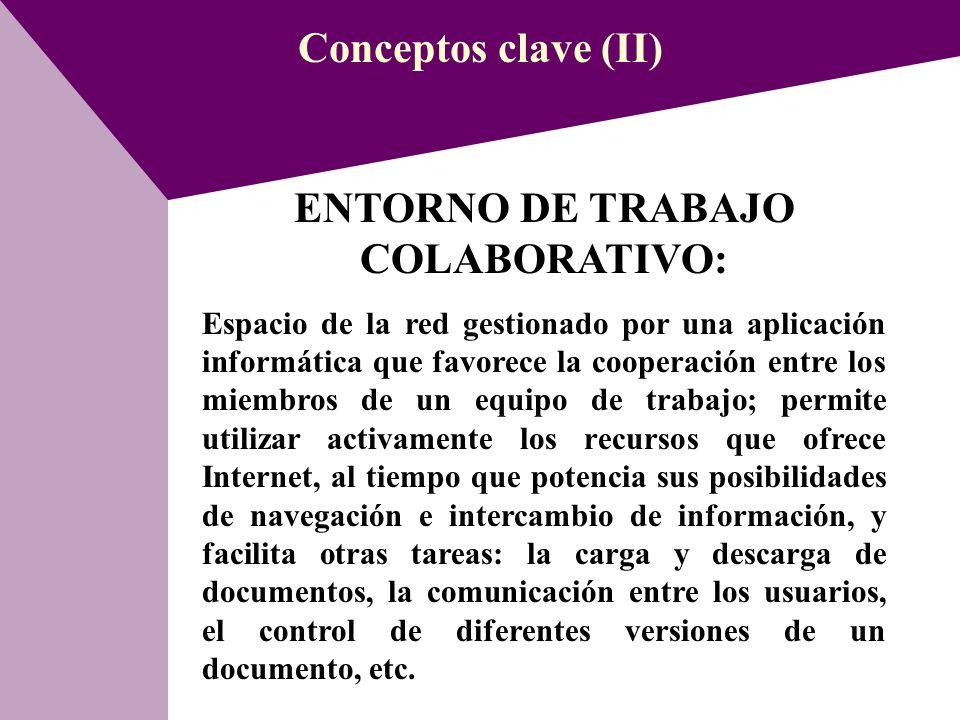 ENTORNO DE TRABAJO COLABORATIVO: