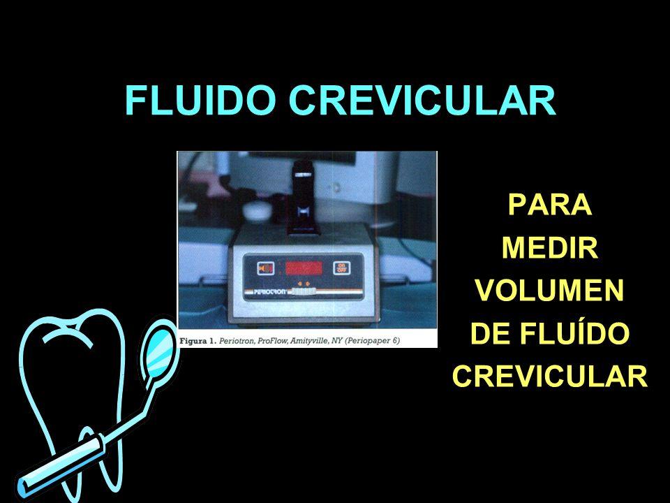 PARA MEDIR VOLUMEN DE FLUÍDO CREVICULAR