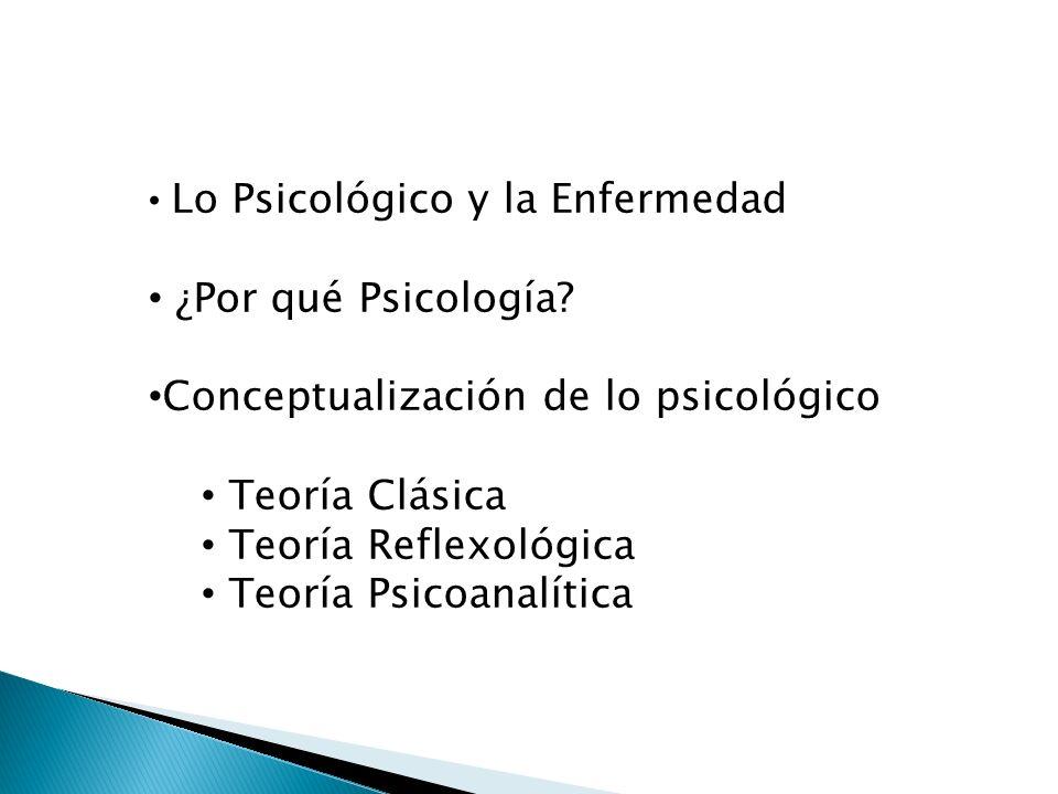 Conceptualización de lo psicológico Teoría Clásica