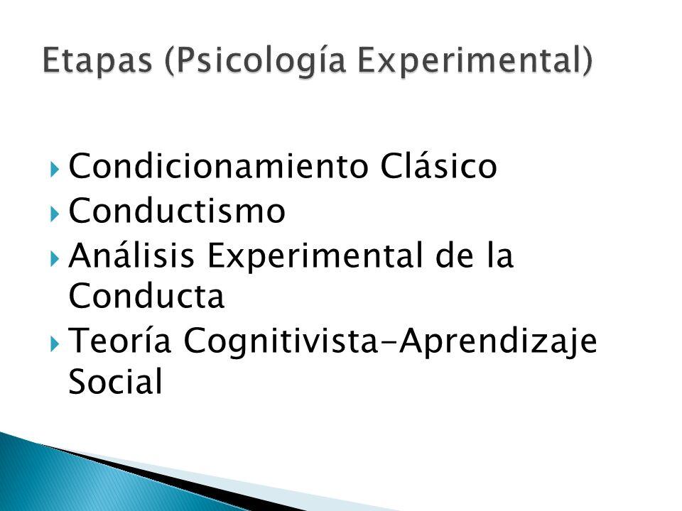 Etapas (Psicología Experimental)