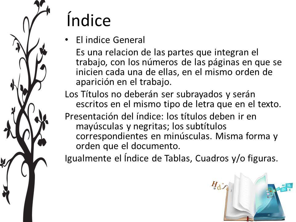 Índice El indice General