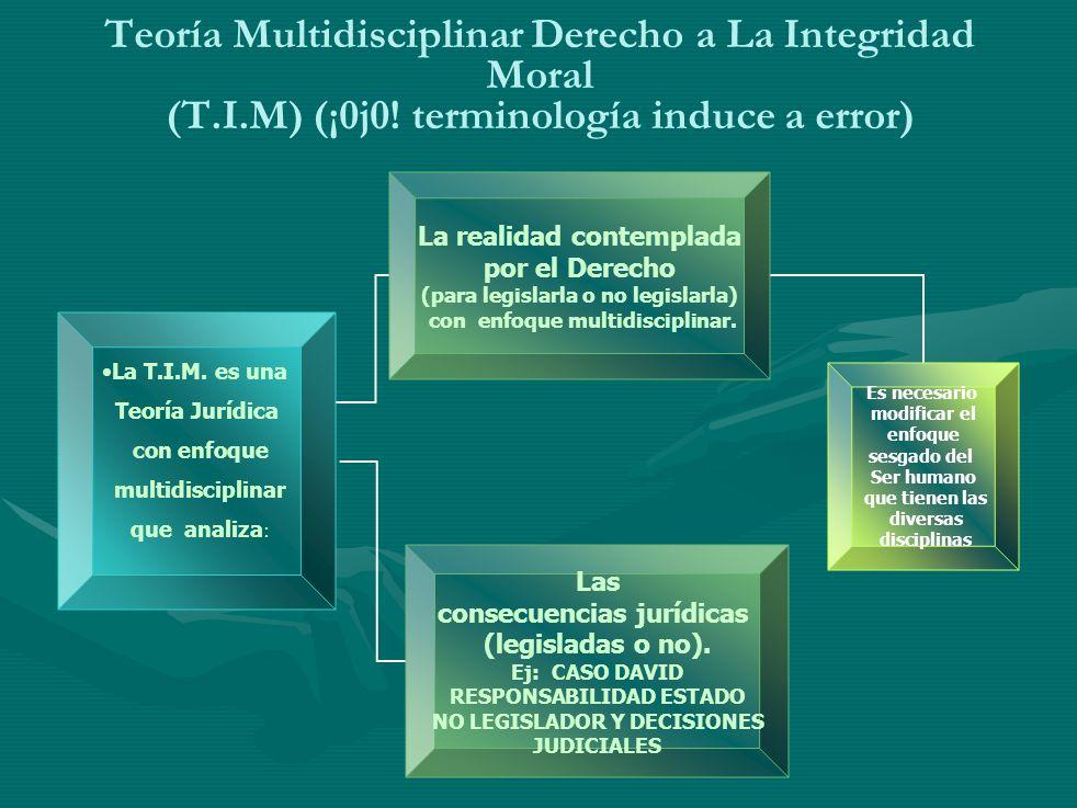 Teoría Multidisciplinar Derecho a La Integridad Moral (T. I. M) (¡0j0