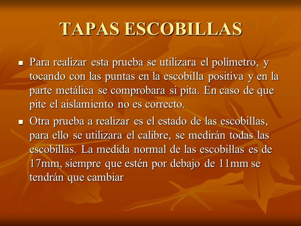 TAPAS ESCOBILLAS