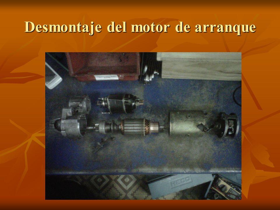 Desmontaje del motor de arranque