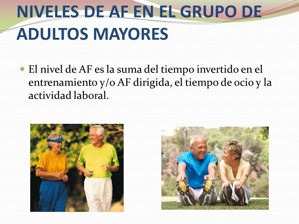 NIVELES DE AF EN EL GRUPO DE ADULTOS MAYORES