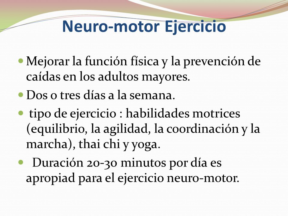 Neuro-motor Ejercicio