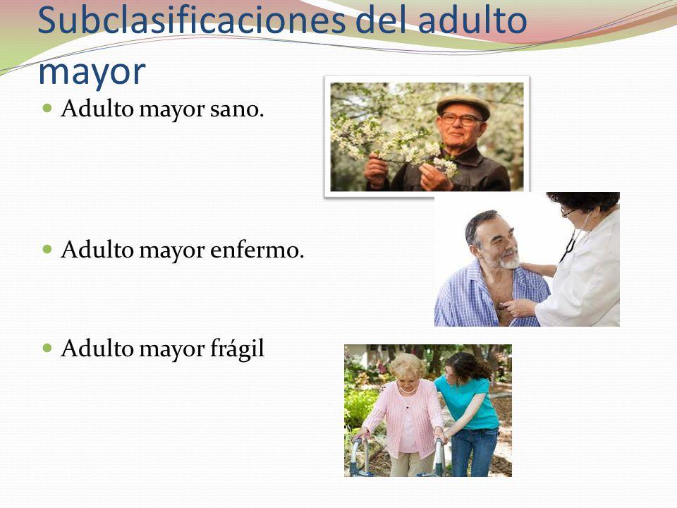 Subclasificaciones del adulto mayor