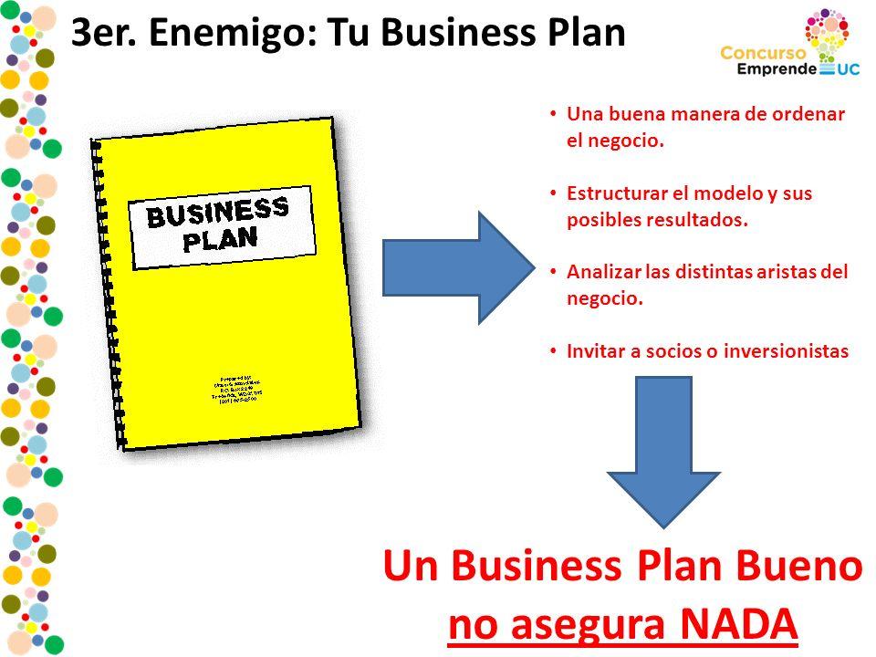 Un Business Plan Bueno no asegura NADA