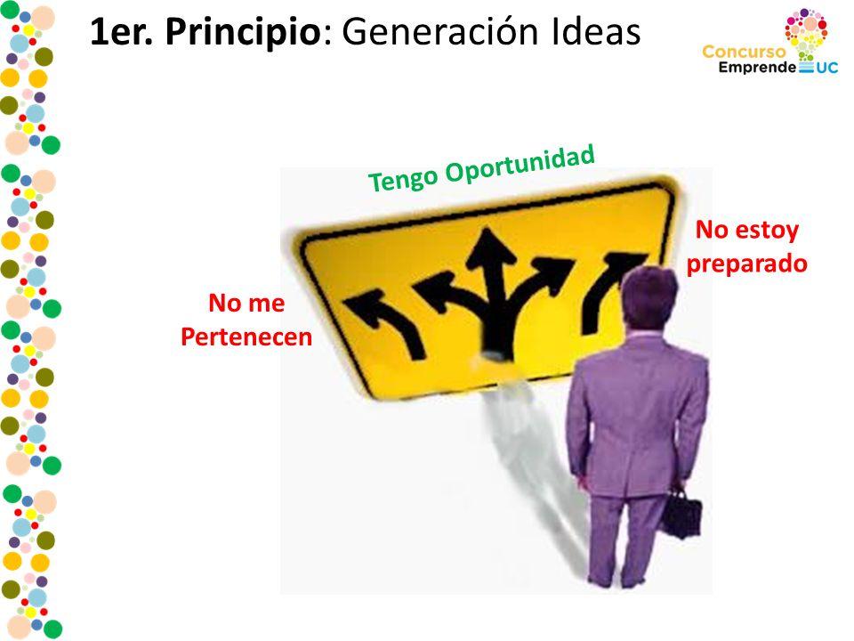 1er. Principio: Generación Ideas