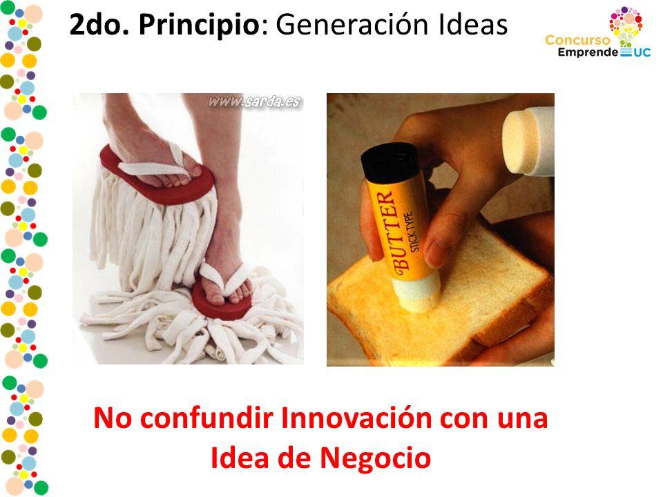 No confundir Innovación con una Idea de Negocio