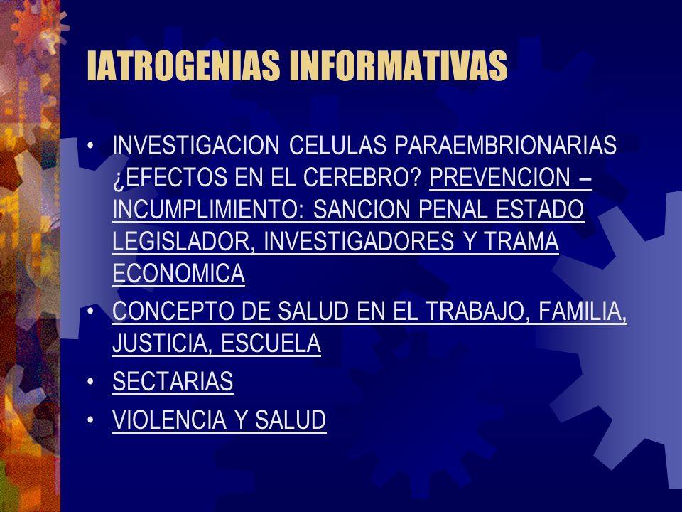 IATROGENIAS INFORMATIVAS