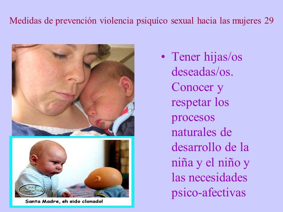 Medidas de prevención violencia psiquíco sexual hacia las mujeres 29