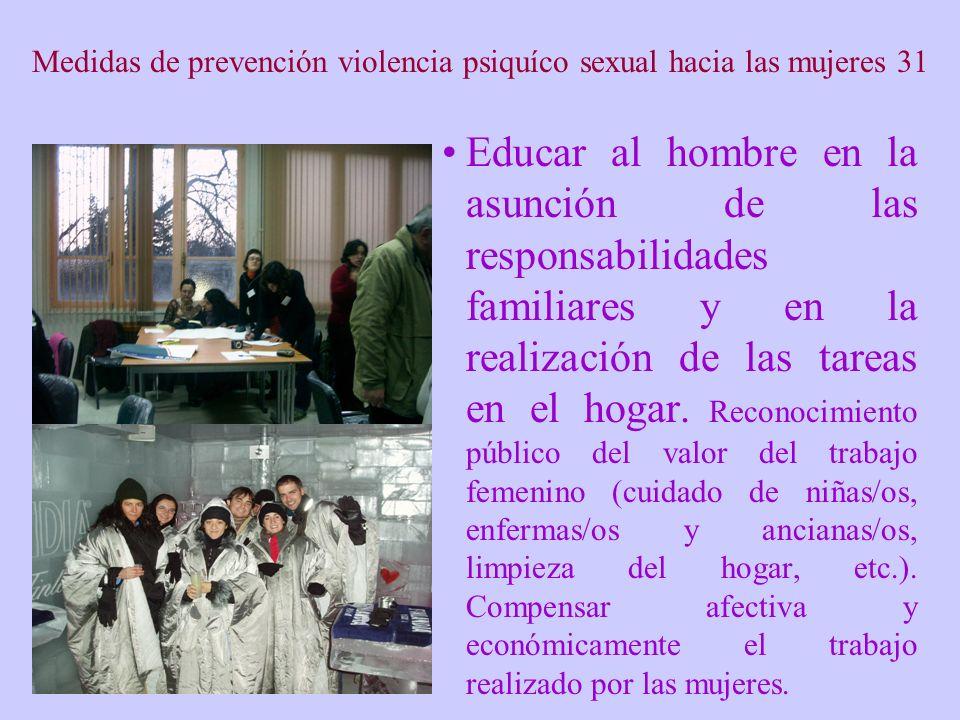 Medidas de prevención violencia psiquíco sexual hacia las mujeres 31