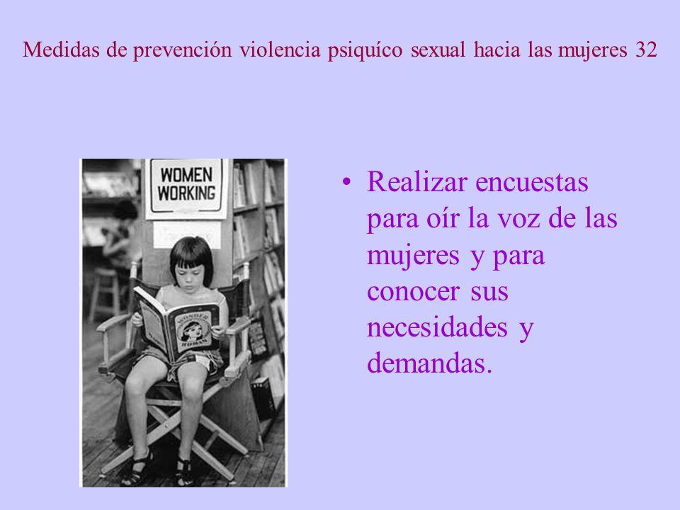 Medidas de prevención violencia psiquíco sexual hacia las mujeres 32