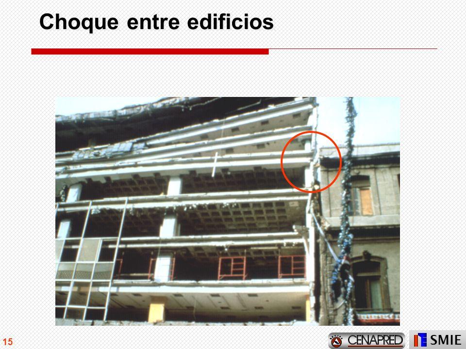 Choque entre edificios