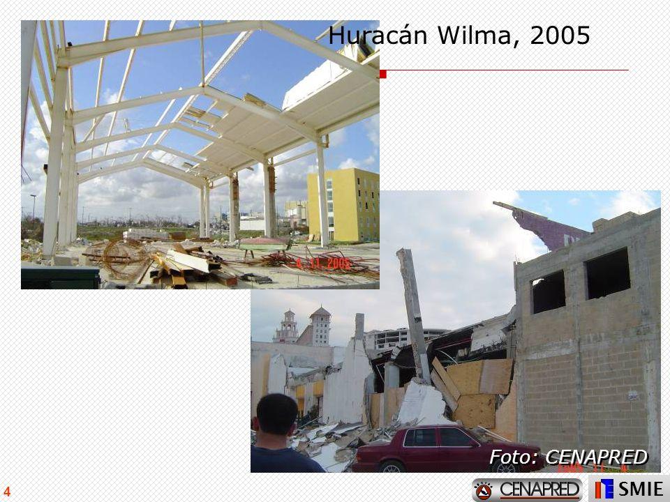 Huracán Wilma, 2005 Foto: CENAPRED