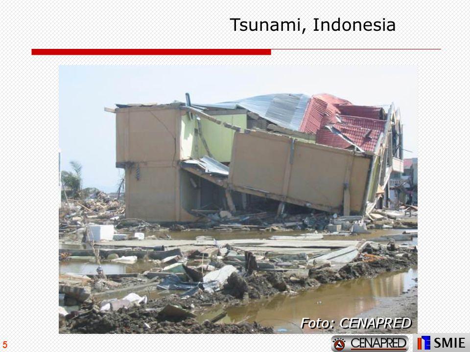 Tsunami, Indonesia Foto: CENAPRED