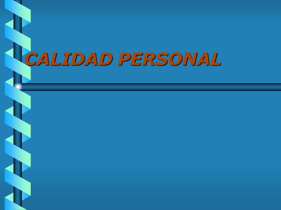 CALIDAD PERSONAL