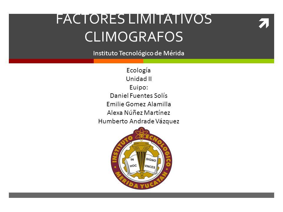 FACTORES LIMITATIVOS CLIMOGRAFOS