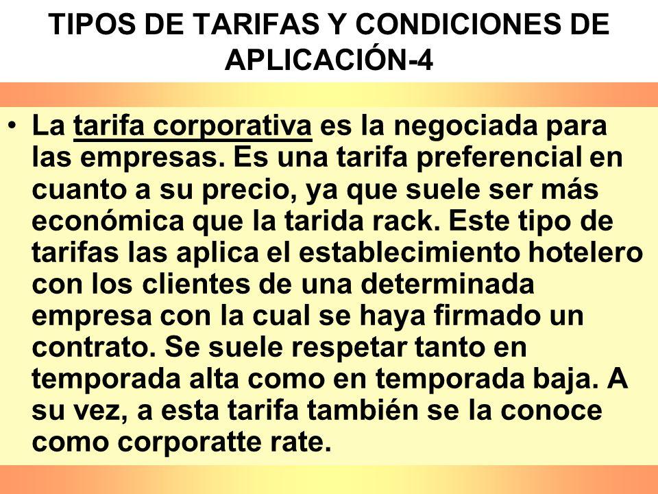 TIPOS DE TARIFAS Y CONDICIONES DE APLICACIÓN-4