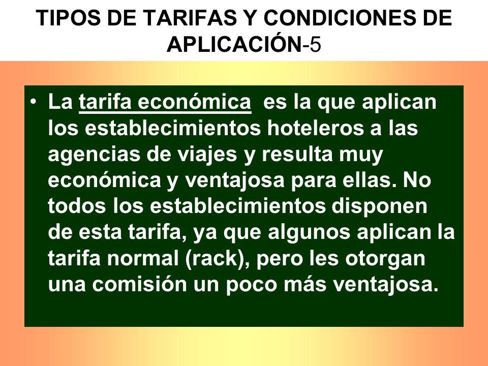 TIPOS DE TARIFAS Y CONDICIONES DE APLICACIÓN-5