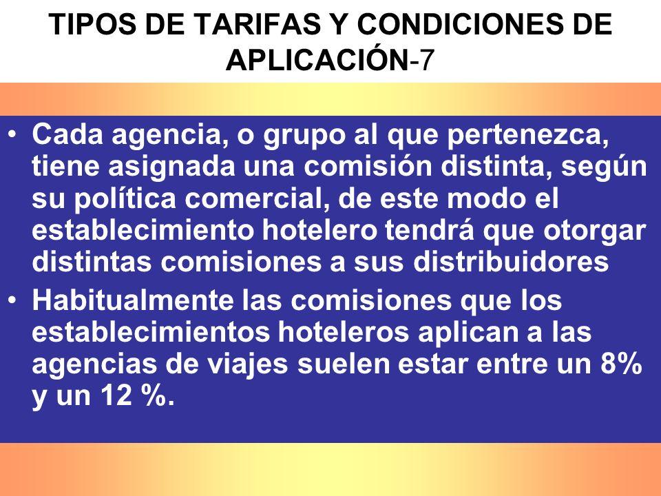 TIPOS DE TARIFAS Y CONDICIONES DE APLICACIÓN-7