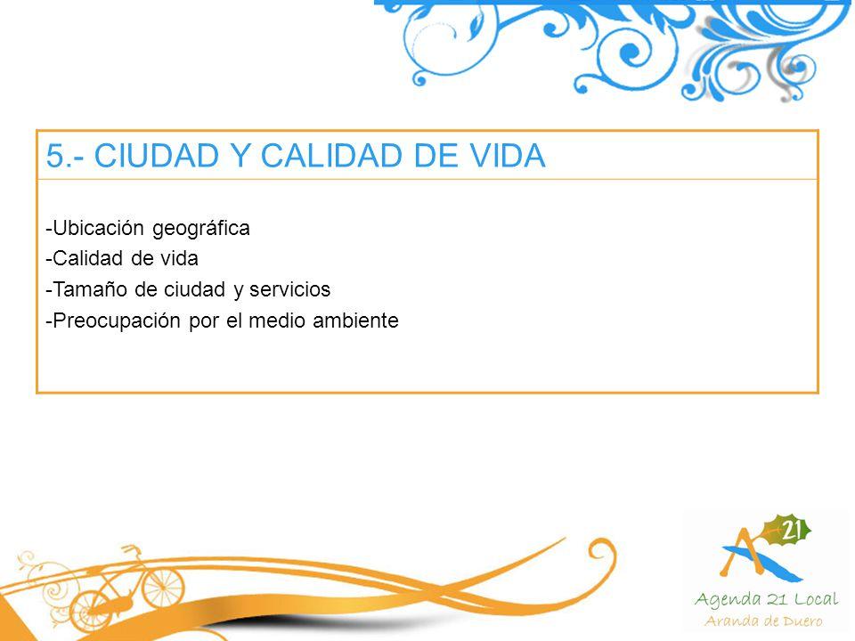 5.- CIUDAD Y CALIDAD DE VIDA