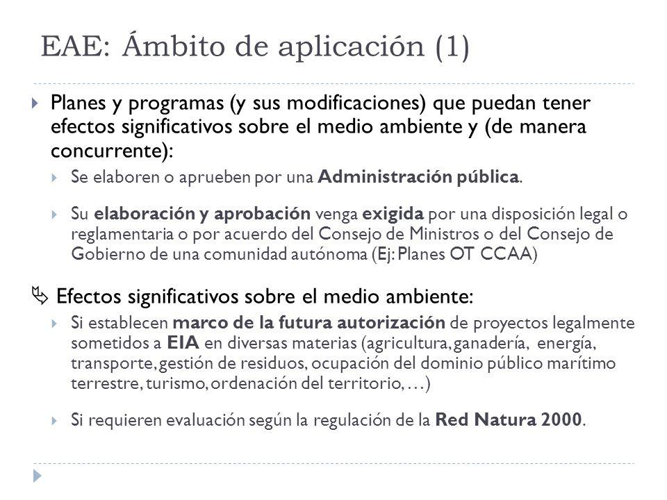 EAE: Ámbito de aplicación (1)