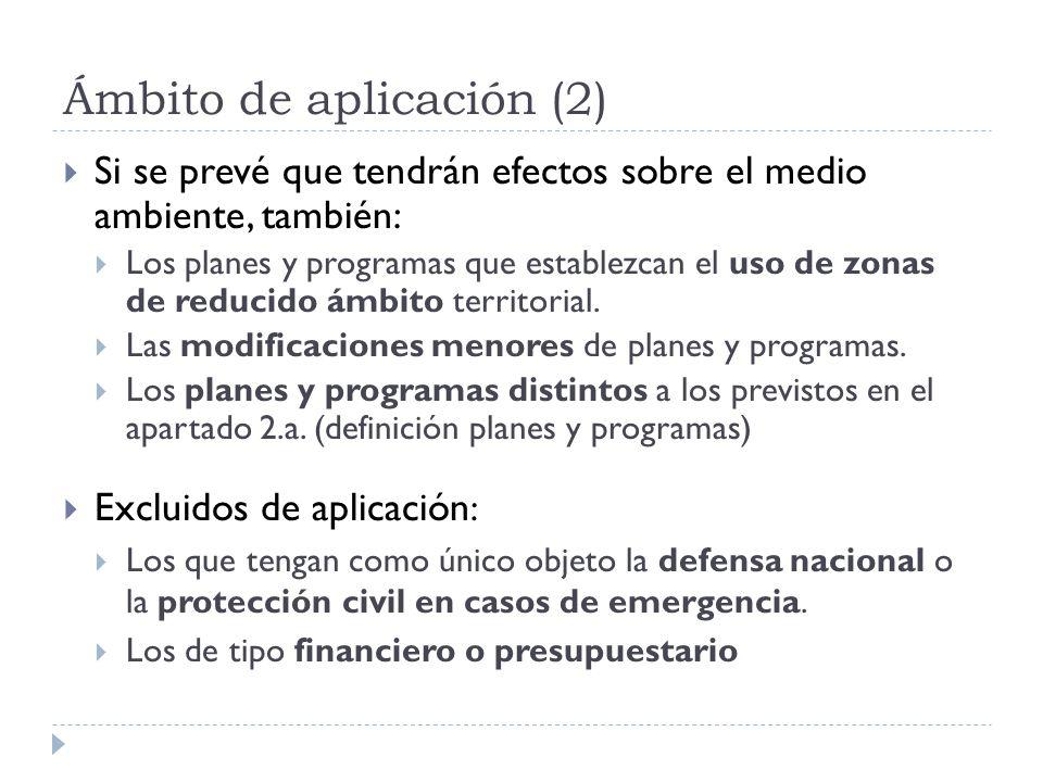 Ámbito de aplicación (2)