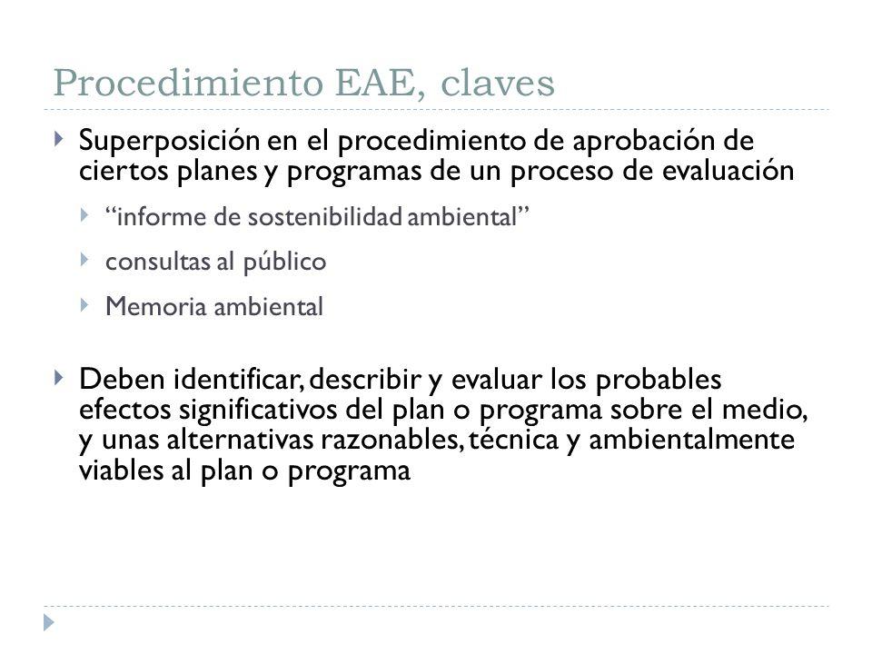 Procedimiento EAE, claves