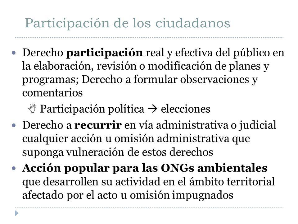 Participación de los ciudadanos