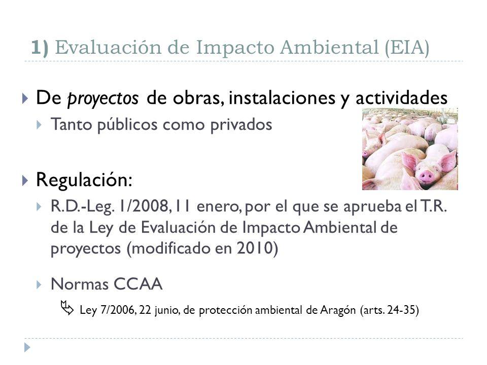 1) Evaluación de Impacto Ambiental (EIA)