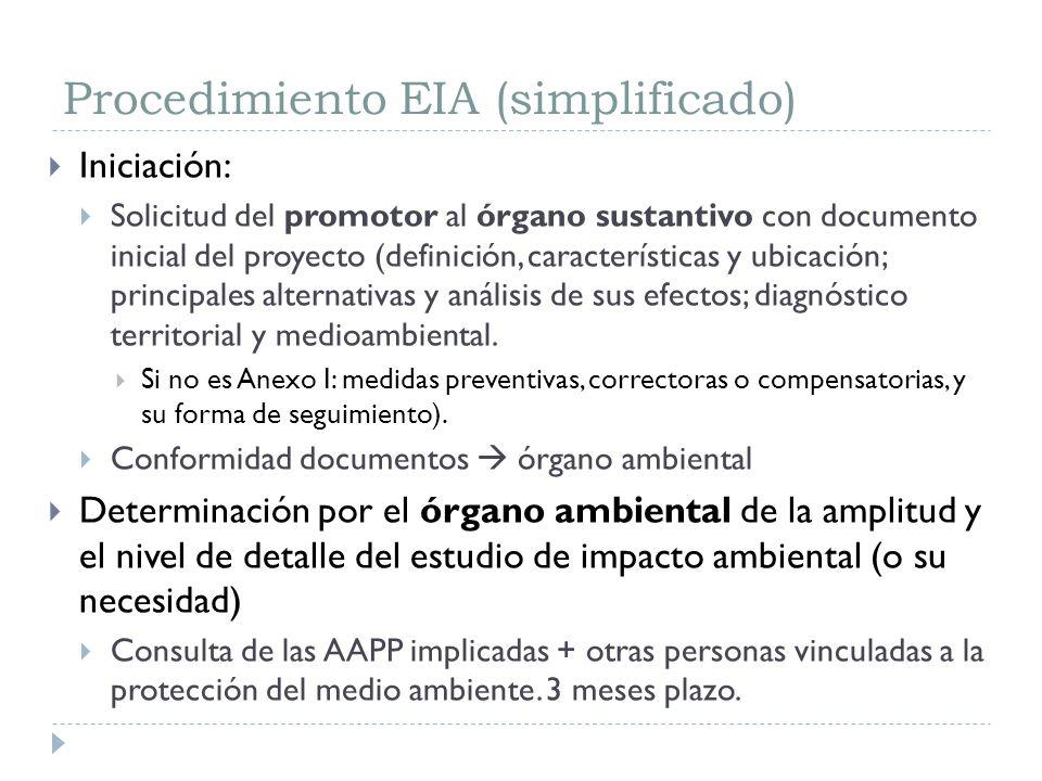 Procedimiento EIA (simplificado)