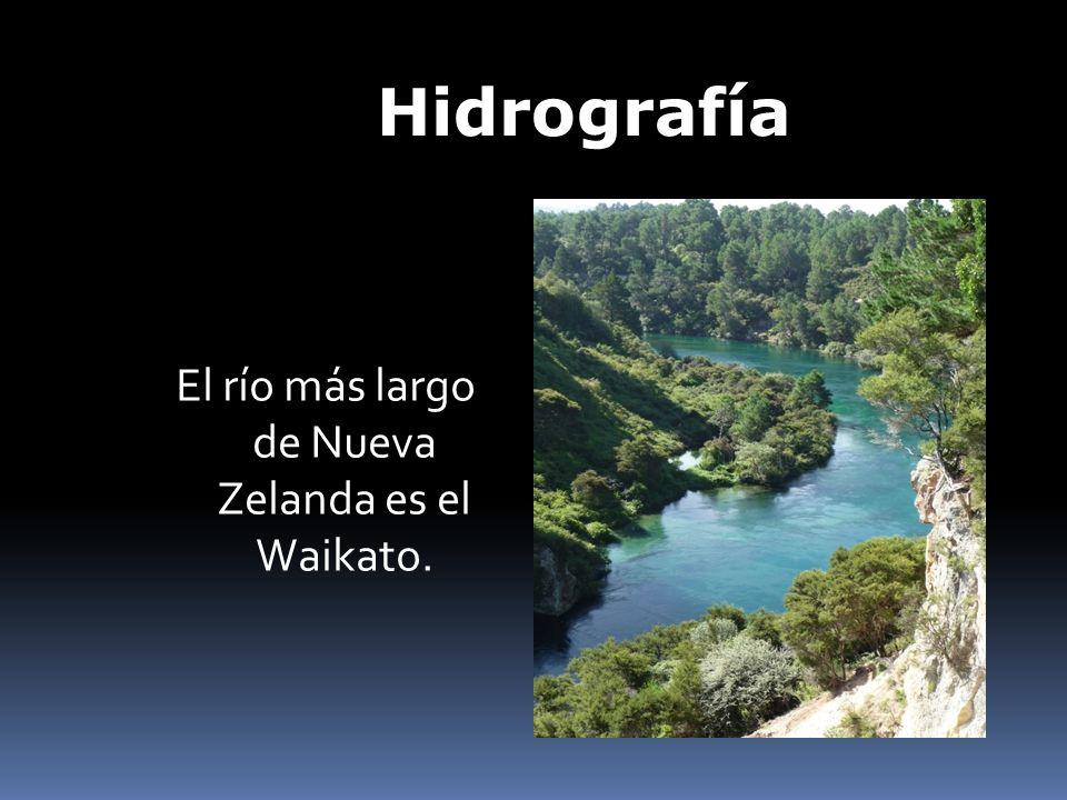 El río más largo de Nueva Zelanda es el Waikato.