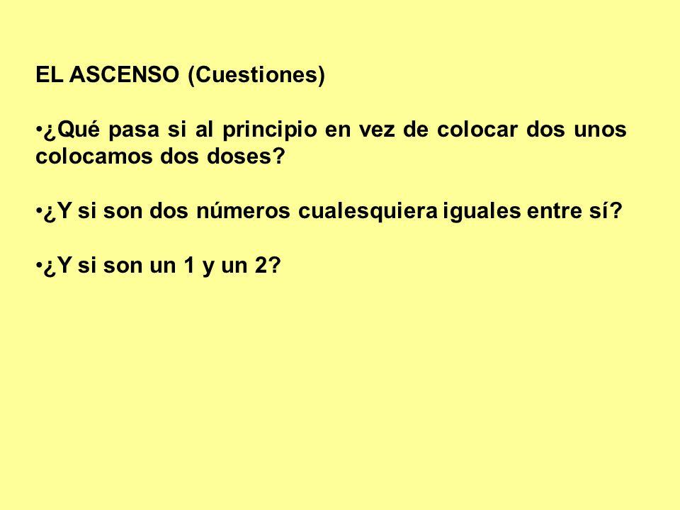 EL ASCENSO (Cuestiones)