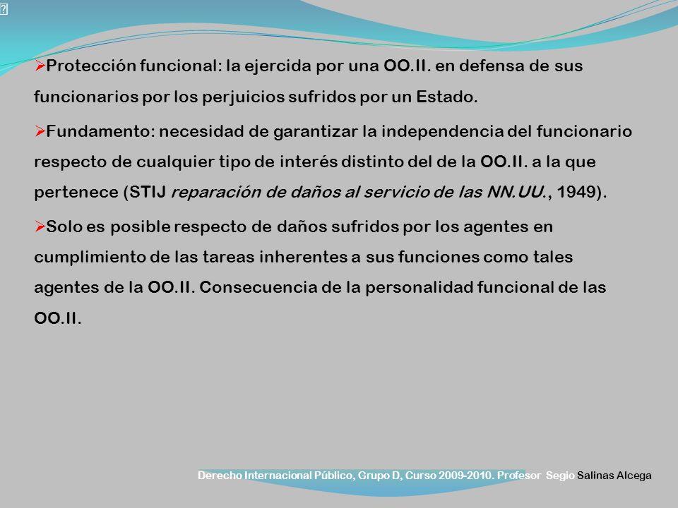 Protección funcional: la ejercida por una OO. II
