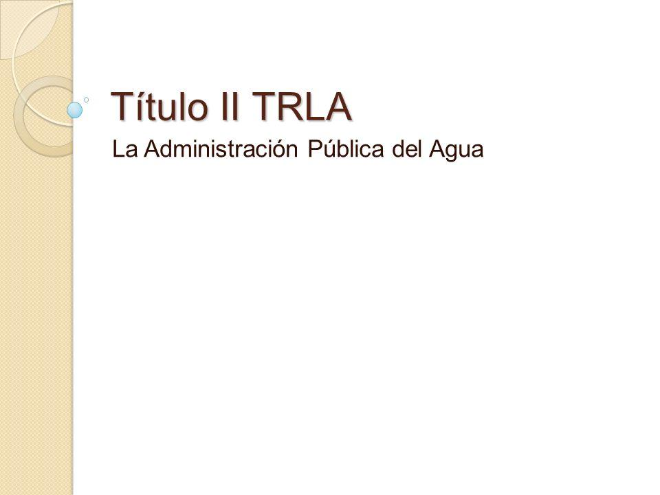 La Administración Pública del Agua