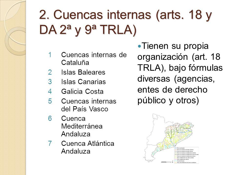 2. Cuencas internas (arts. 18 y DA 2ª y 9ª TRLA)